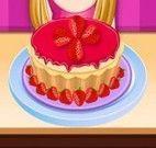 Receita de bolo cobertura de morango