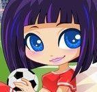 Roupas de jogadora de futebol