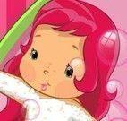 Banho na bebê Moranguinho