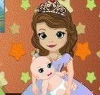 Princesa Sofia cuidar da bebê
