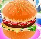 Decorar hambúrguer na escola