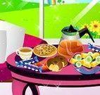 Decoração da mesa de chá