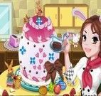 Decoração do bolo de Páscoa