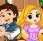 Rapunzel bebê limpar cozinha