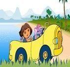 Dirigir na praia com Dora