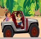 Dora e Diego recolhendo corações