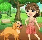 Dora e seu cachorrinho