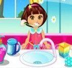 Dora escovar os dentes