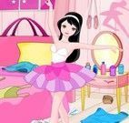 Bailarina limpar quarto