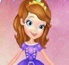 Vestir e maquiar princesa Sofia