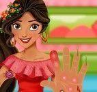 Elena cuidar das mãos