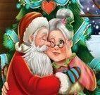 Beijo da Mamãe Noel e Papai Noel