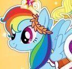 My Little Pony banho e roupas