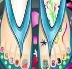 Spa dos pés unhas decoradas