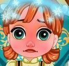 Elsa cuidar da Anna resfriada
