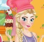 Elsa fazer sorvete