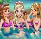Festa na piscina das princesas