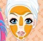 Limpeza de pele e maquiar no spa