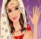 Escolher acessórios para a garota indiana