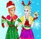 Elsa e Anna roupas de Natal