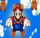 Pegar moedas voando com Mario
