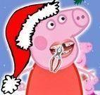 Peppa Pig cuidar dos dentes no natal