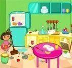 Limpar cozinha com Dora