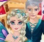 Elsa e Jack roupas de Halloween