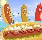 Fazer cachorros quente com ketchup