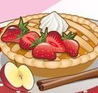Fazer torta de maçã com recheio de morango