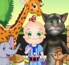 Tom, bebê e amigos no zoológico