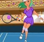 Jogar tênis no campeonato