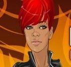 Maquiar e vestir Rihanna