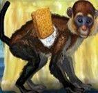 O macaco engraçado