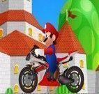 Pilotar moto com o super Mario