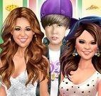 Pizzas com Miley Cyrus, Justin e Selena