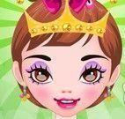 Princesa no salão de beleza