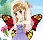 Roupas da menina borboleta noiva