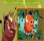 Timão e Pumba pintar