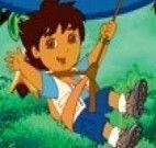 Tirar fotos com Diego na floresta