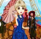 Vestir a garota do navio pirata