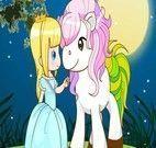 Vestir a garota e o ponei