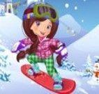 Vestir a menina para esquiar