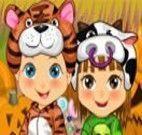 Vestir as crianças para festa fantasia de animais