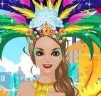 Vestir garota para o carnaval