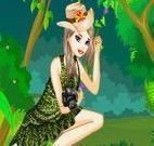 Vestir menina na selva