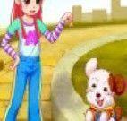 Wendy e seu cachorrinho